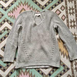 Cozy grey LOFT Sweater